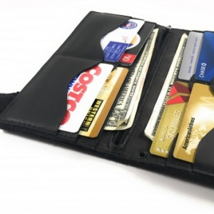 "Mens Black US Military Deluxe Bifold Wallet, 18"" LEATHER Chains ONLY, Key FOB, Army, Navy, Marine, Air Force, Vets"