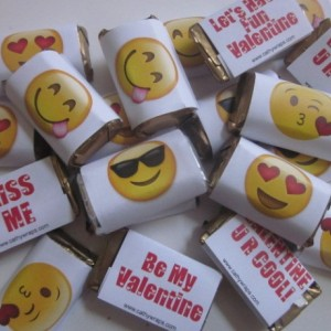Emoji Wrapped Hershey's Miniatures-assorted pack of 40-can be personalized for any occasion