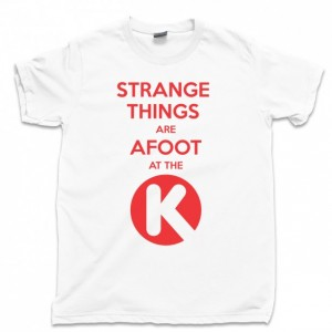 Bill And Ted Men's T Shirt, Strange Things Are Afoot At The Circle K Bill & Ted's Excellent Adventure Movie Unisex Cotton Tee Shirt