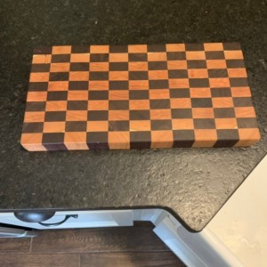 End grain Walnut & Cherry Wood Cutting Board