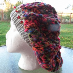 Slouch Beanie Hat Hand Knitted with Beads - BONNEVILLE by Anja