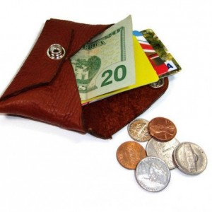 Buffalo Leather Card Wallet, Leather Coin Purse