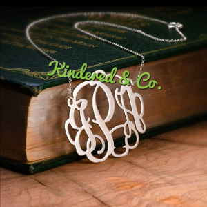 Sterling Silver Monogram Necklace
