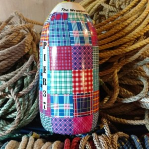 Patchwork! A real Maine lobster buoy!