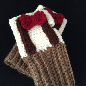 Crochet 11th doctor finger-less gloves, You Choose size