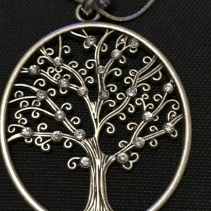 Gunmetal Detailed Tree Necklace