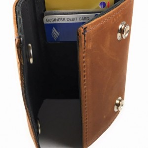 Mens Basic Trifold Wallet with SNAPS,Leather Trifold Wallet,USA,Made in USA,Trifold Wallet with Snaps Leather,Leather Wallet Trifold,Leather