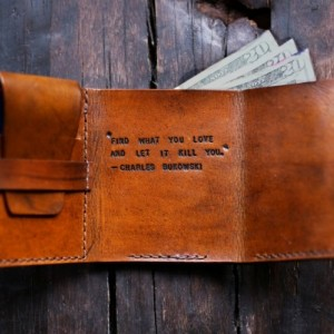 Mens Leather Wallet, Secret Life of Walter Mitty Wallet, Mens Anniversary Gift (Mahogany Color)