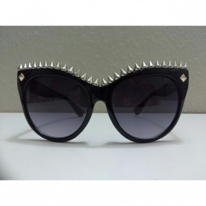 Studded Cat Eye Sunglasses Spiked Skull Greaser Rockabilly Psychobilly Rock Metal Horror Chick Shades Hot Sexy Punk Grunge Goth Pentagram