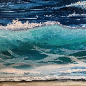 Waves Oil Painting