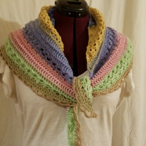 Triangle Scarf with lots of texture