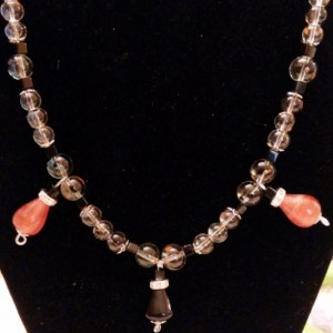 Orange and Black Days Necklace -22 inches