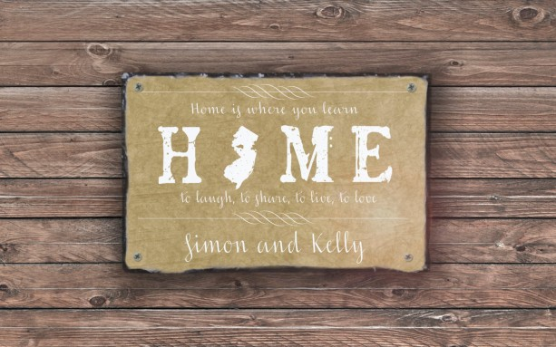 Home State Sign  Personalized Welcome Sign  Welcome To Our Home