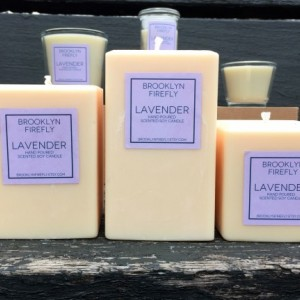 Lavender Candles. FREE SHIPPING. Scented Soy.  Set of 3.