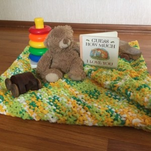 Knitted Baby Blanket Custom Order by Give A Yarn Crafts