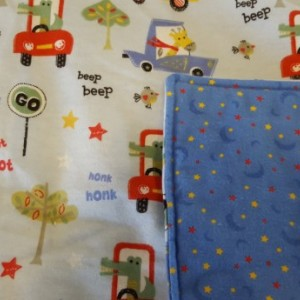Animals in Cars Flannel Baby Blanket