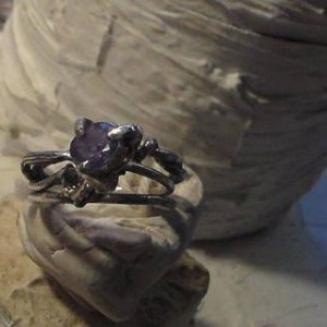 Faceted Amethyst and White Topaz