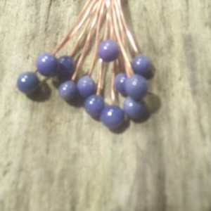 Made to Order Enameled Copper Headpins Purple Lavender