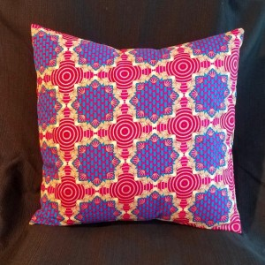 Decorative Accent Pillow - Ornate Pink