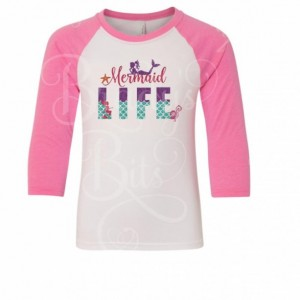 Adult Mermaid Life Raglan Tee