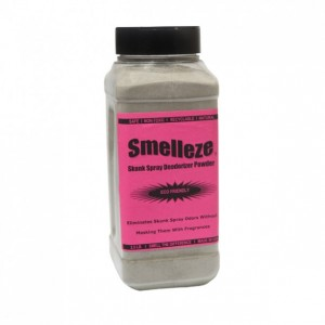 SMELLEZE Eco Skunk Spray Odor Eliminator: 50 lb. Powder Gets Foul Stench Out