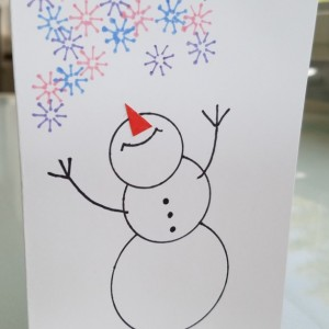 Christmas Snowman Blank Notecards, 5-Pack