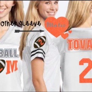 Custom Ladies Football Jersey with Glitter for Football Mom Homecoming Jersey shirt Football Mom School Spirit Jersey Team Colors