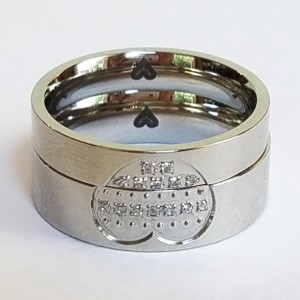 Titanium steel ring set for couples