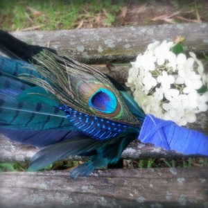Smudge Fan-Pheasant,Raven, Crow Feather-Blue-Green-Cruelty Free, Blue Handle