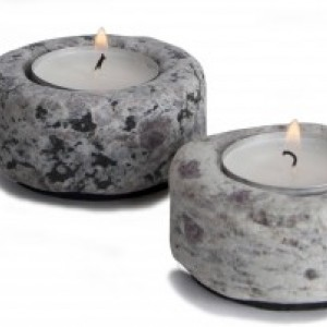 Sea Stones Granite Tea Light, Candle Holder
