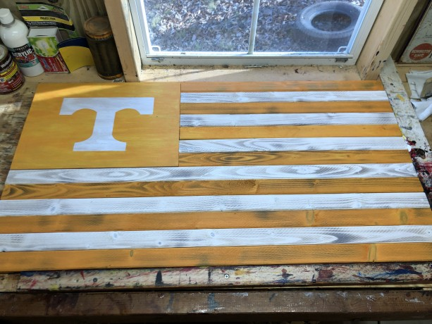 Tennessee Wooden Flag