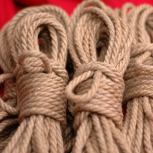 Six 8m Lengths of 6mm Hand Crafted Tossa Jute Rope