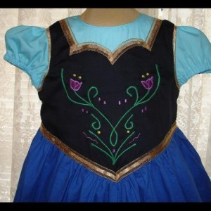 Princess Ann Inspired Dress-Sizes 2T to Girls size 8-Made to Order