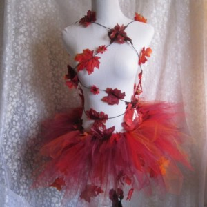Adult Red Leaf Tutu Costume
