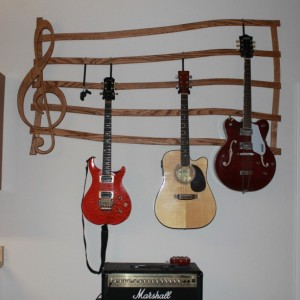 Multiple Guitar Hanger, Wall mount