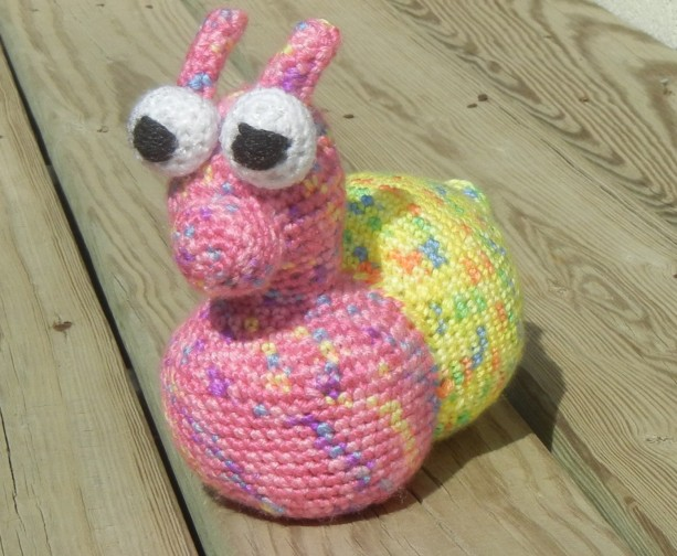 Snail, Amigurumi Toy Snail, Stuffed Snail Toy, Ready To Ship, Stuffed Toy, Plush Snail, Crochet Animal, Handmade Toy, Ready To Ship