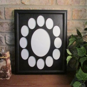 School Years Frame Collage k-12 Graduation Oval Black Picture Frame Black Matte 11x14