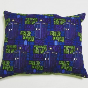 Throw Pillow with Dr. Who Cotton