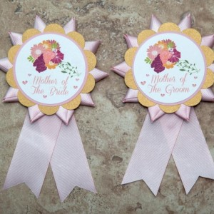 Wedding Bachelorette Party Bride Kentucky Derby Ribbon themed button pin-  (Quantity 2)