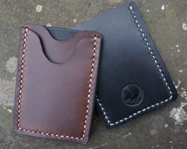 Mens Brown Leather Wallet // Card Case // Classic // Horween // HandStitch