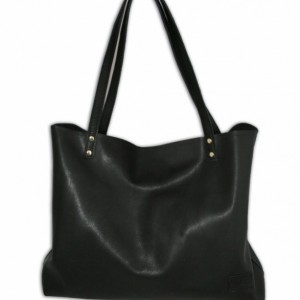 Large Black Leather Bag, large leather tote bag, women's oversized tote