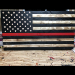 Redline  Wooden flag