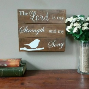 Encouragement Gift - Sympathy Gift - Christian Gift - Rustic Wood Sign - Christian Home Decor - Scripture Sign - Gift under 30