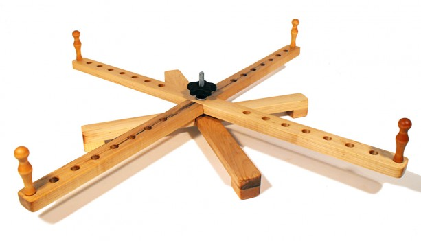 """Handcrafted Yarn Swift Tabletop Windmill or Amish Style Portable Maple Swift -30"""""""