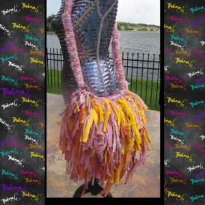 Fringe Bag,Boho Chic,Shabby Chic, Upcycled Purse,Pink,Yellow,Custom Made,One Of A Kind,unique,funky