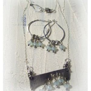 Morning Dew Earrings and Necklace Set
