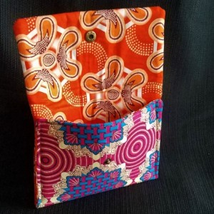 Snap Pouch - Ornate Pink/Blue