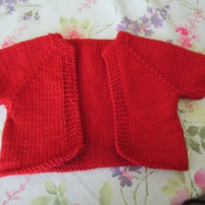 Hand knit 6-9 month-old sweater