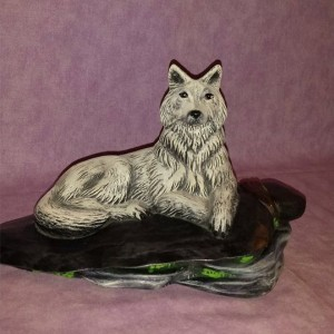 White Wolf By ArtfulEarthCeramics