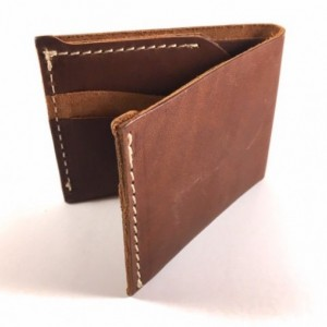 Raw Edge Stitched Bifold Wallet,Hand Stitched,Heavy Nylon Thread,Made in USA, Bifold Wallet,Leather Bifold Wallet,Bifold Leather Wallet